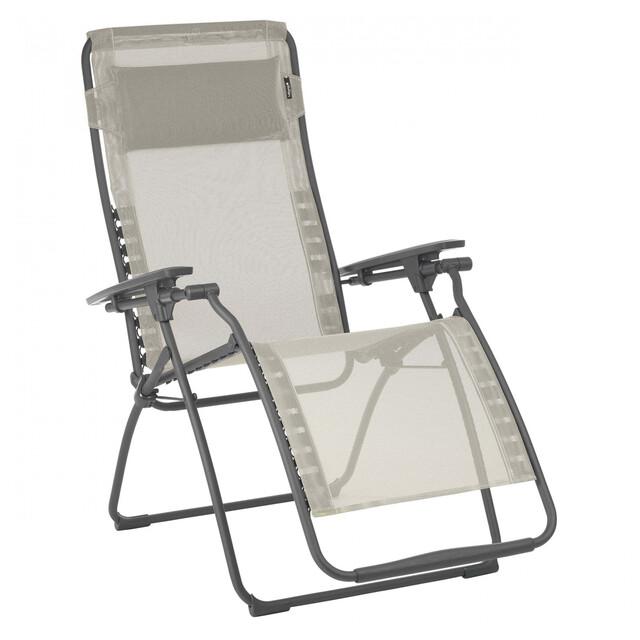 Lafuma Mobilier Futura Chaise longue avec Cannage Phifertex, seigle